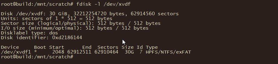 Use fdisk to Locate the Attached Volume