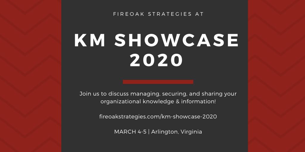 FireOak Strategies at KM Showcase 2020